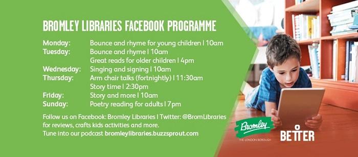 Bromley Libraries Facebook Programme